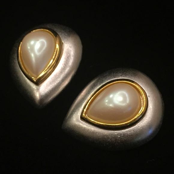 bfe9a2aa086 Yves Saint Laurent Jewelry | Ysl Vintage Silvertone Clipon Earrings ...